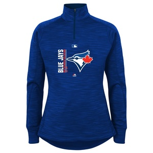 Toronto Blue Jays Youth Fleece Icon 1/4 Zip Sweater Royal by Majestic