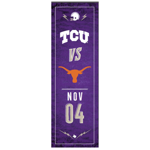 TCU vs. Texas  Football Street Banner (B)
