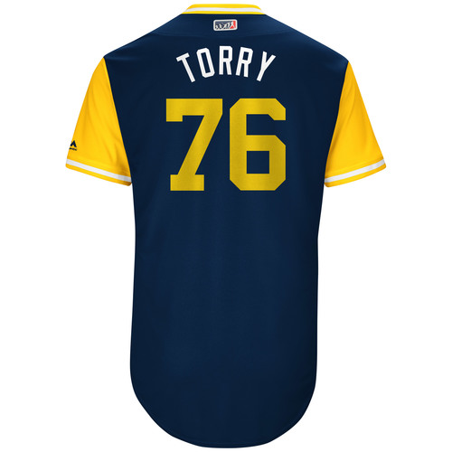 "Photo of José ""Torry"" Torres San Diego Padres Game-Used Players Weekend Jersey"