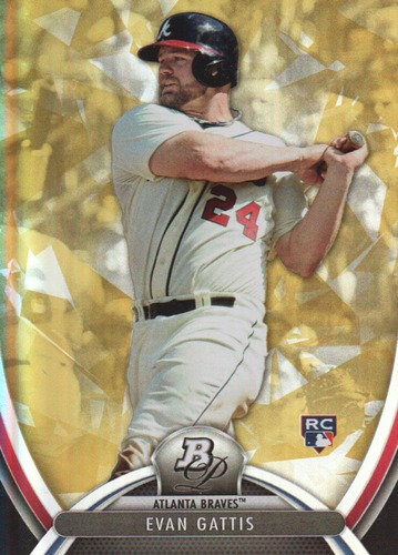 Photo of 2013 Bowman Platinum Gold #12 Evan Gattis -- Astros post-season