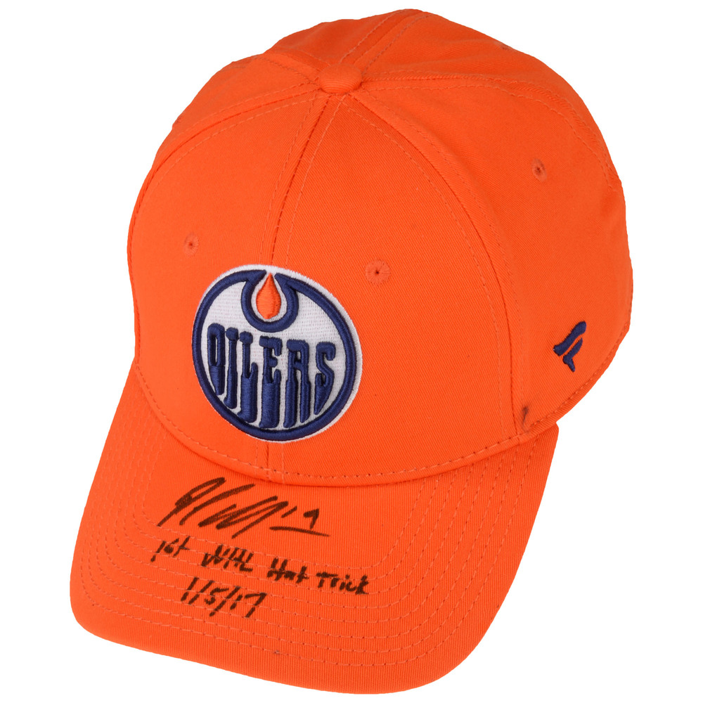 Patrick Maroon Edmonton Oilers Autographed Cap - #1 of a Limited Edition of 19
