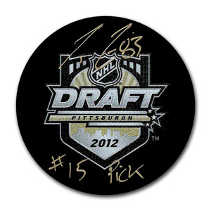 Cody Ceci Autographed 2012 NHL Entry Draft Puck w/15TH PICK Inscription (Ottawa Senators)