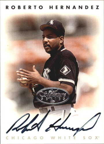 Photo of 1996 Leaf Signature Autographs Silver #100 Roberto Hernandez