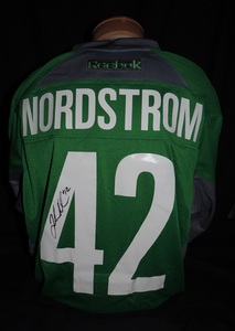 Carolina Hurricanes Authentic Go Green Joakim Nordstrom #42 Jersey