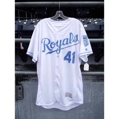 Photo of Danny Duffy Game-Used Father's Day Jersey (Size 46)