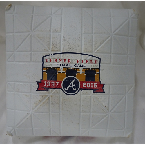 Photo of Game-Used Third Base Used During the Final Inning at Turner Field