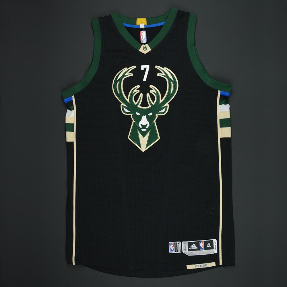 Thon Maker - Milwaukee Bucks - Black Playoffs Game-Worn Jersey - 2016-17 Season