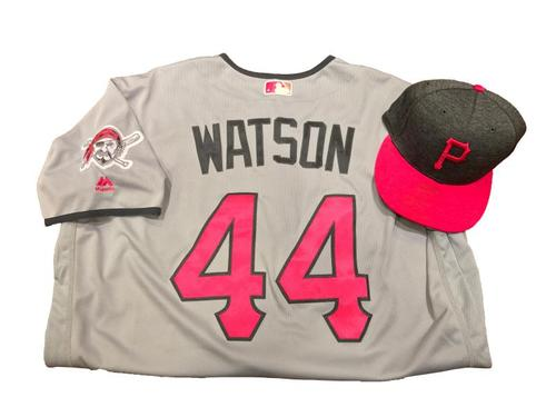 Photo of Tony Watson Game-Used Mother's Day Jersey and Hat