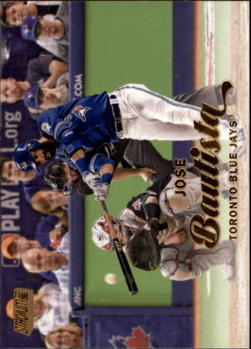 Photo of 2017 Stadium Club Gold Foil #37 Jose Bautista