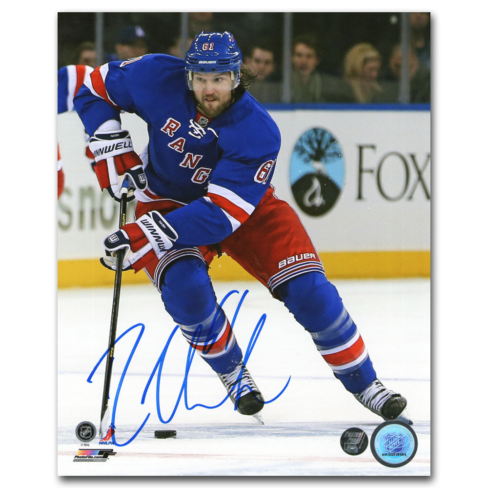 Rick Nash Autographed New York Rangers 8X10 Photo