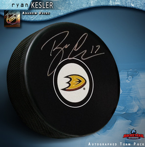 RYAN KESLER Signed Anaheim Ducks Puck