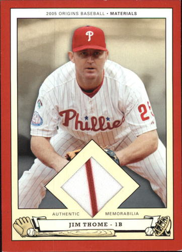 Photo of 2005 Origins Materials Jersey #JT Jim Thome