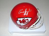NFL - CHIEFS KEVIN HOGAN SIGNED CHIEFS MINI HELMET