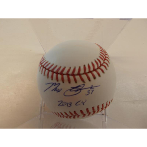 Photo of Autographed Max Scherzer Baseball Includes 2013 CY Inscription