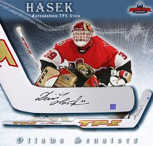 DOMINIK HASEK Signed TPS Goalie Stick - Ottawa Senators