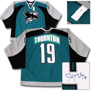 Joe Thornton Autographed San Jose Sharks Authentic Pro Jersey