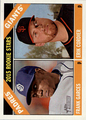 Photo of 2015 Topps Heritage #27 Erik Cordier (RC)/Frank Garces RC