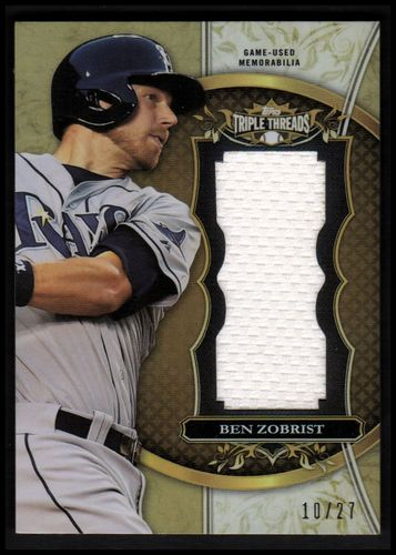 Photo of 2013 Topps Triple Threads Unity Relics Sepia #BZ2 Ben Zobrist