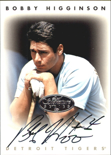 Photo of 1996 Leaf Signature Autographs Silver #101 Bobby Higginson