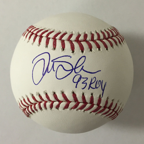 "Photo of Tim Salmon Autographed ""93 ROY"" Baseball"