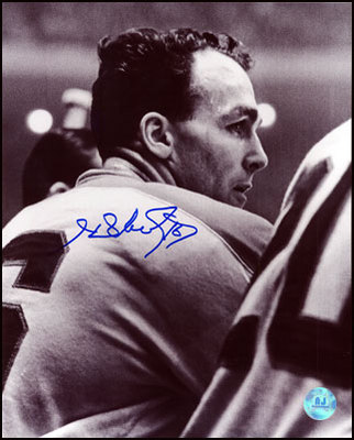 HENRI RICHARD Montreal Canadiens SIGNED 16x20 B&W Photo