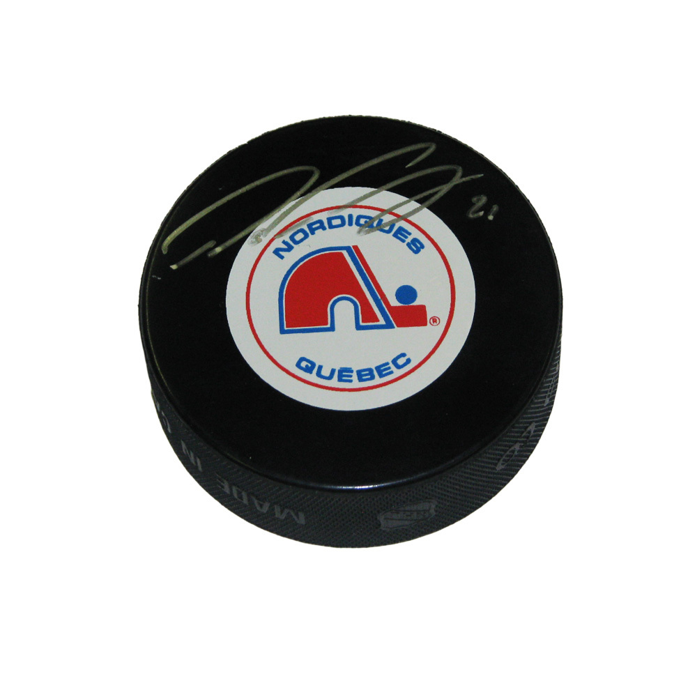 PETER FORSBERG Signed Quebec Nordiques Puck