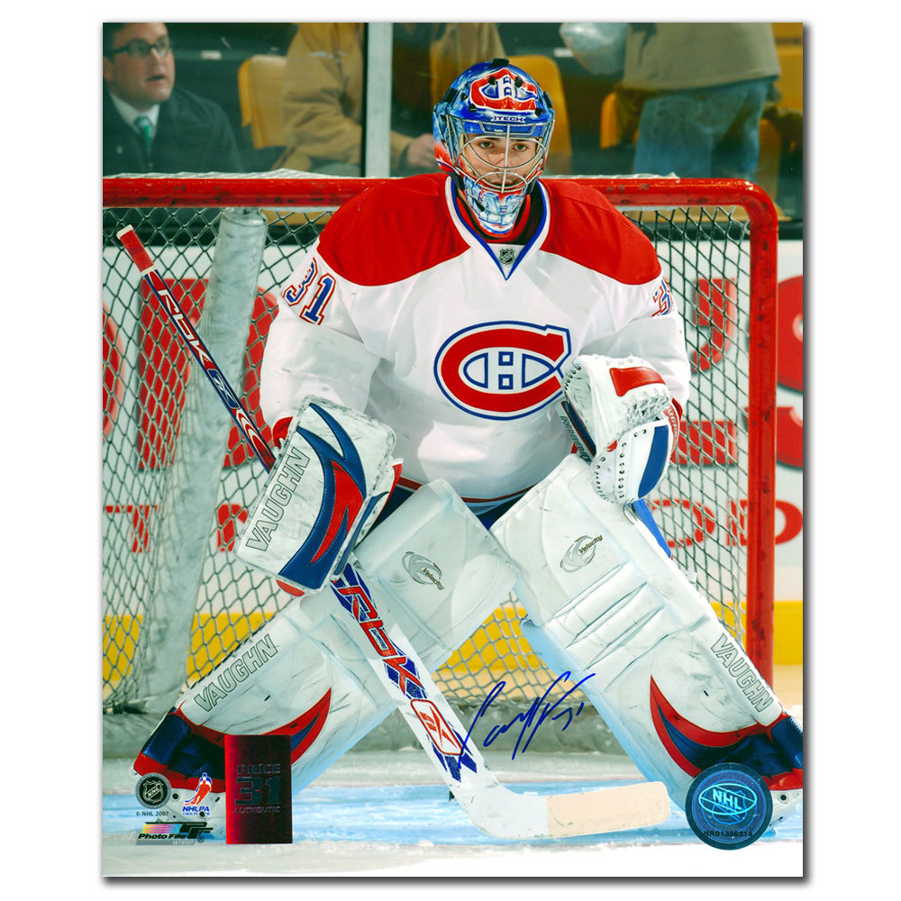 Carey Price Montreal Canadiens White Jersey Autographed 8x10