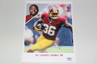REDSKINS - DARREL YOUNG SIGNED 8X10 PHOTO