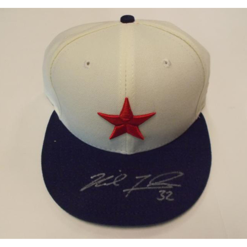 Photo of Autographed Game-Used Michael Fulmer Detroit Stars Cap