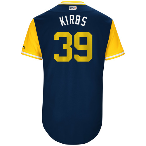 "Photo of Kirby ""Kirbs"" Yates San Diego Padres Game-Used Players Weekend Jersey"