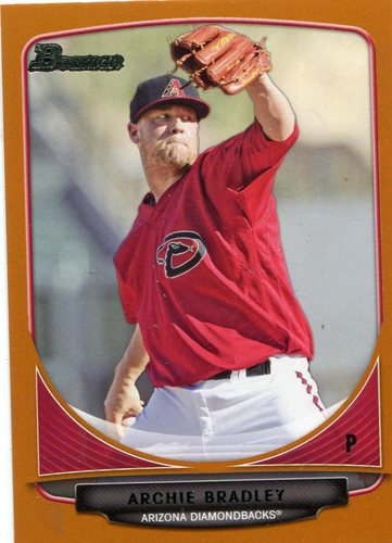 Photo of 2013 Bowman Draft Top Prospects Orange #TP30 Archie Bradley -- D'backs post-season