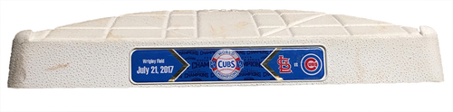 Photo of Game-Used 2nd Base -- Cubs vs. Cardinals -- 7/21/17 -- Used Innings 7 through 9