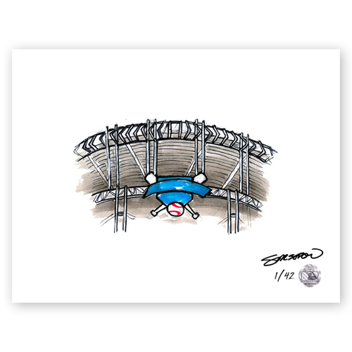 Photo of Progressive Field Sketch - Limited Edition Print 1/42 by S. Preston
