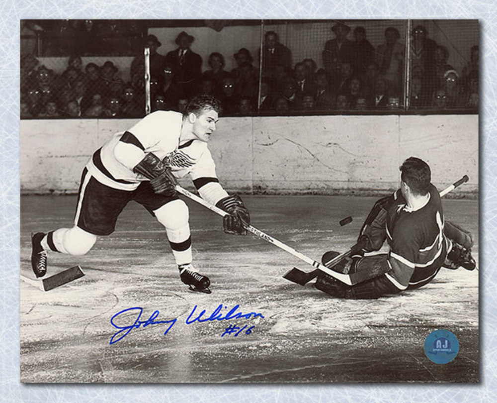 Johnny Wilson Detroit Red Wings Autographed 8x10 Photo