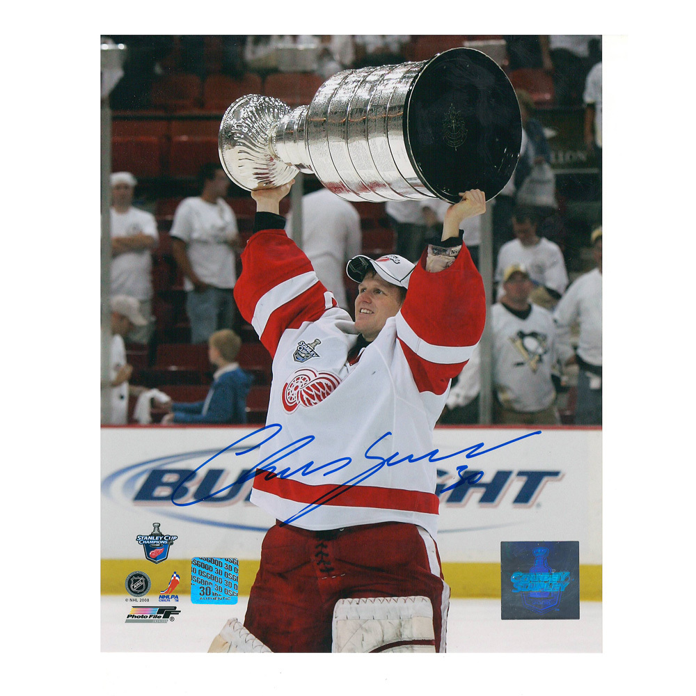 CHRIS OSGOOD Signed Detroit Red Wings '08 Stanley Cup 8 X 10 Photo - 70257