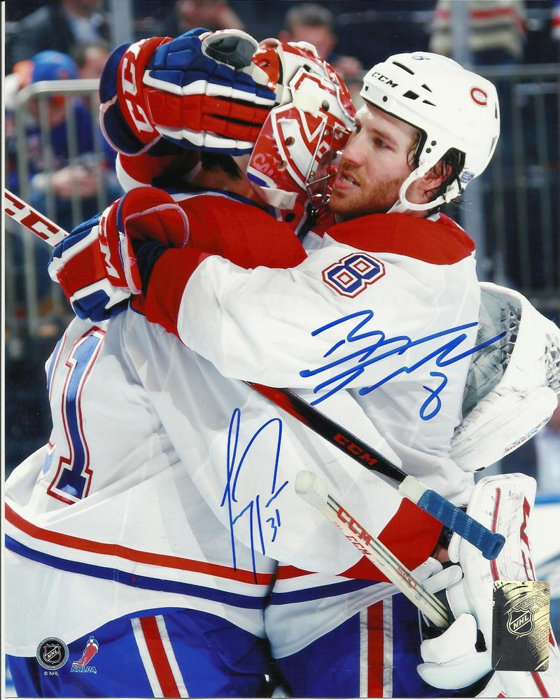 Carey Price & Brandon Prust DUAL Signed Montreal Canadiens CELEBRATION 8x10