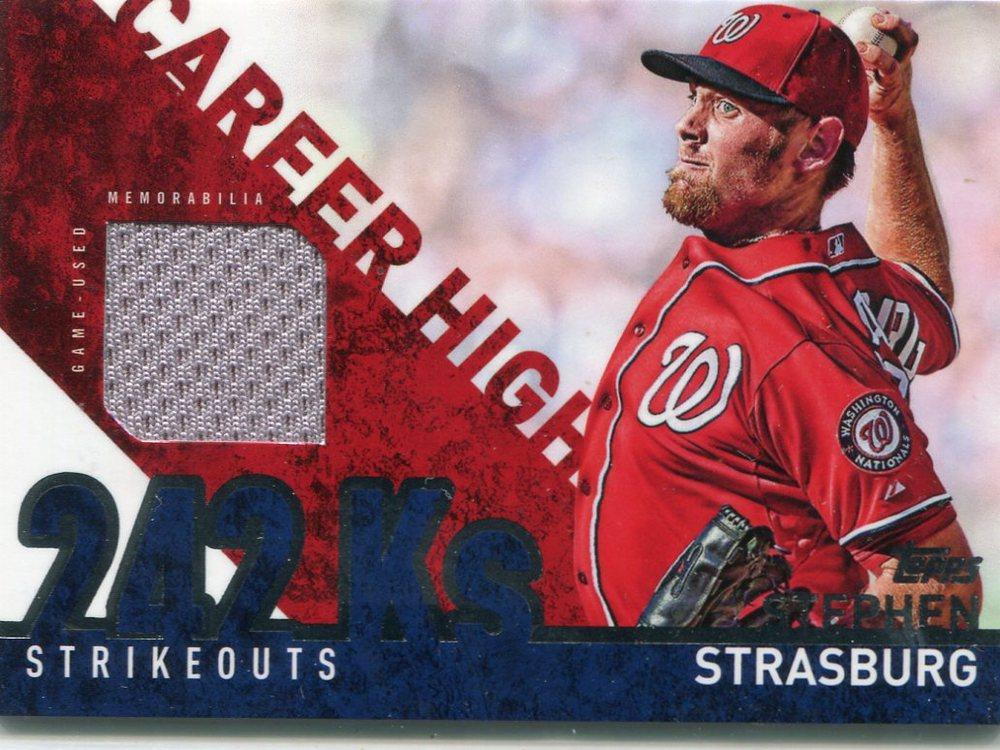 2015 Topps Career High Relics  Stephen Strasburg