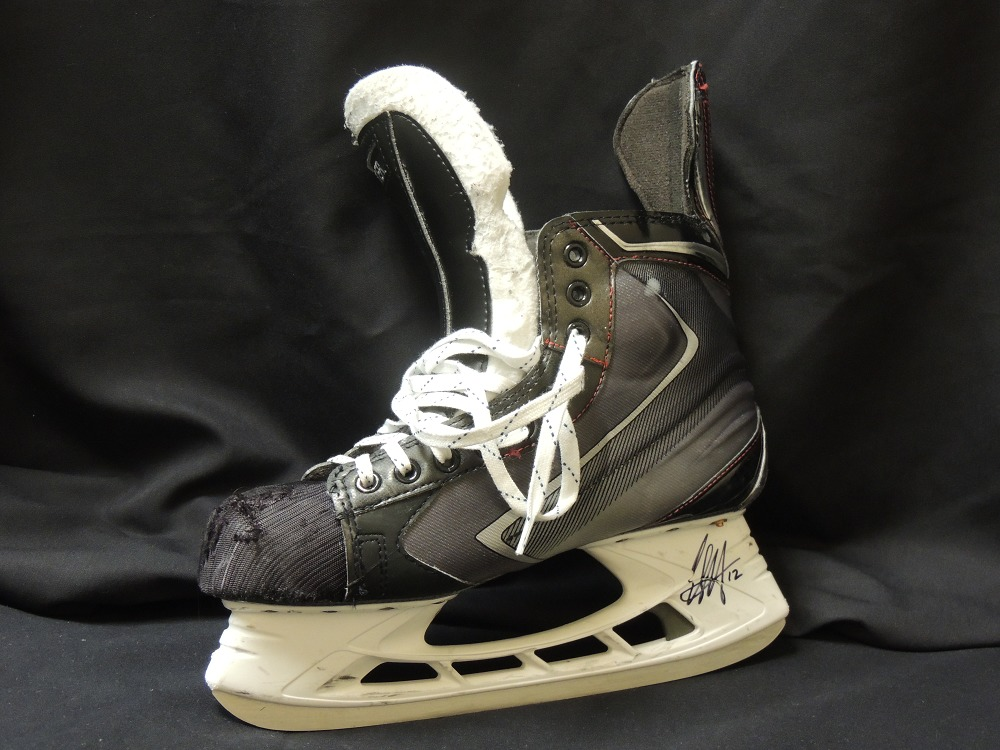 Eric Staal #12 Autographed, Game Used Hockey Skate