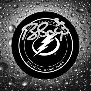 Ben Bishop Tampa Bay Lightning Autographed Official Game Puck