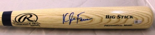 Photo of Kyle Farmer Autographed Blonde Rawlings Bat