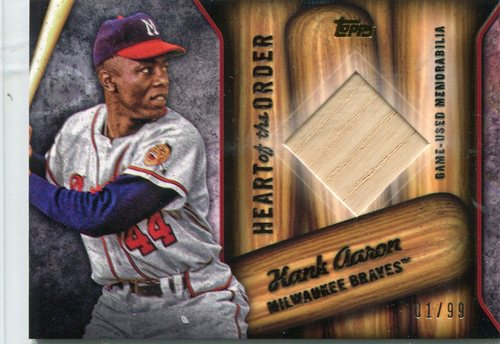 Photo of 2015 Topps Heart of the Order Relics Hank Aaron