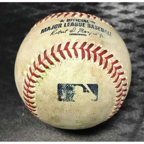 Photo of Game-Used Baseball - Peralta, Goldschmidt, Lamb, Drury vs. Brandon McCarthy