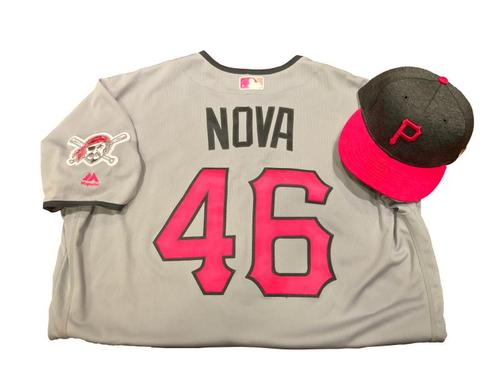 Photo of Ivan Nova Game-Used Mother's Day Jersey and Hat