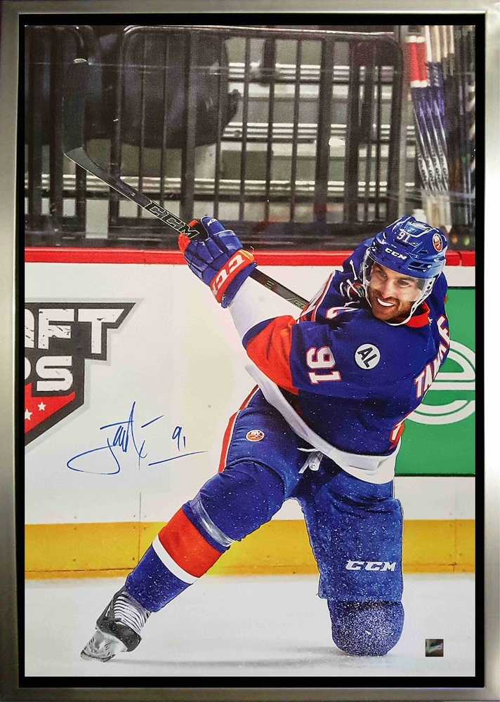 John Tavares - Signed & Framed 20x29 New York Islanders Shooting Canvas