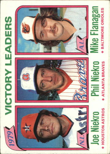 Photo of 1980 Topps #205 Victory Leaders/Joe Niekro/Phil Niekro/Mike Flanagan