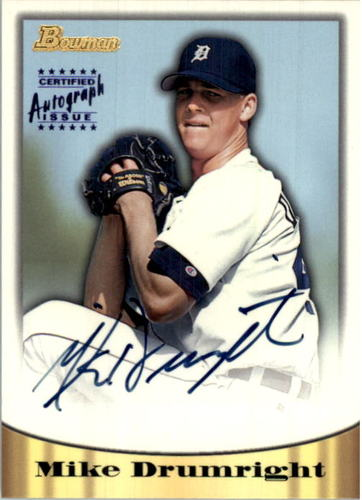 Photo of 1998 Bowman Certified Blue Autographs #26 Mike Drumright