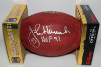 HOF - PATRIOTS JOHN HANNAH SIGNED AUTHENTIC FOOTBALL
