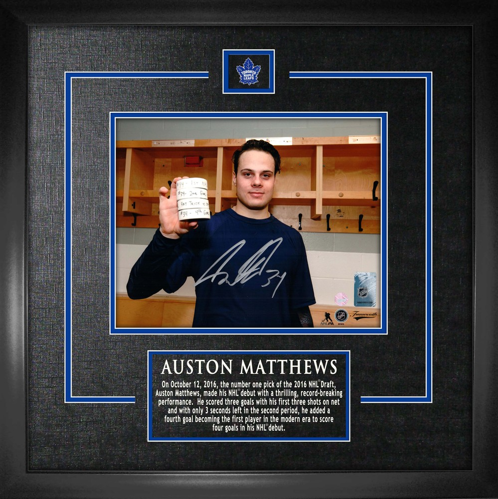Auston Matthews - Signed & Framed 8x10
