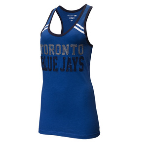 Toronto Blue Jays Women's Slub Stripe Racer Back Tank by 5th & Ocean
