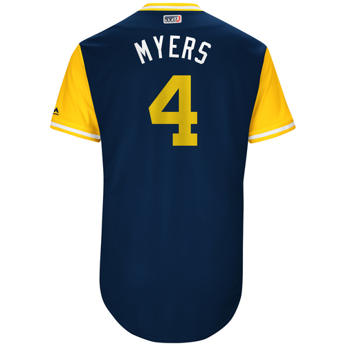 "Photo of Wil ""Myers"" Myers San Diego Padres Game-Used Players Weekend Jersey"
